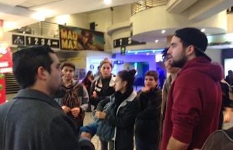 Estudiantes de Cine UDD conocieron la promoción de las películas en terreno