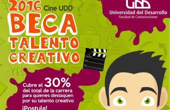 Postula a la Beca Talento Creativo que financia el 30% de arancel