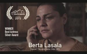 Best Actress Berta Lasala
