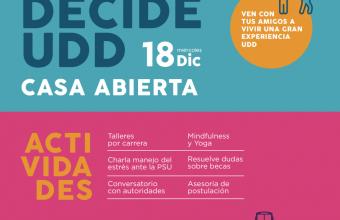 DECIDE UDD: talleres, conversación y orientación vocacional