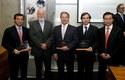 Ignacio Antoñanzas, Ernesto Silva, Marcelo Awad, Eugenio Arteaga e Ignacio González