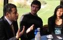 Durante el encuentro con el editor de Reportajes
