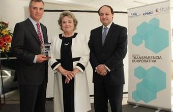Entrega del Premio Transparencia Corporativa 2012
