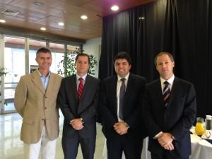 Sergio Gamboa junto a Juan Pablo Sierra, Matías Navarrete e Ignacio Echeverría, del BCI