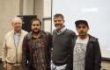 La dupla ganadora con Jorge Jarpa y Sergio Gamboa
