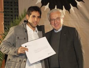 Zarko Castillo y el Rector de la Universidad Alberto Hurtado