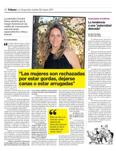Carola Pesce, entrevista La Segunda JPG
