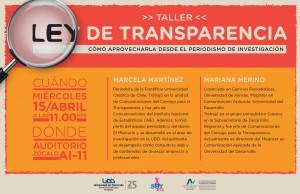 TALLER LEY DE TRANSPARENCIA