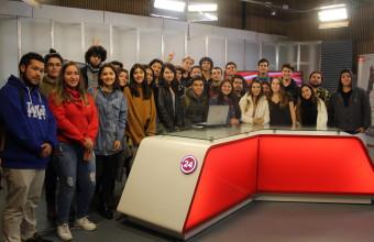 ¡Conociendo el futuro!: alumnos de primero de Periodismo UDD visitan medios y empresas regionales