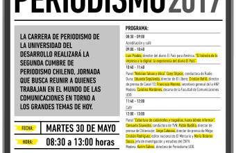 Así será la II Cumbre del Periodismo Chileno en la UDD