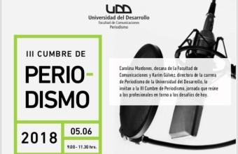 Conoce a los invitados a la III Cumbre de Periodismo Chileno en la UDD