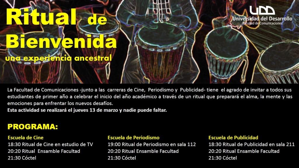 INVITACION RITUAL BIENVENIDA 2014