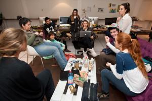 La Escuela de Publicidad de la Universidad del Desarrollo, organiza un taller para los alumnos de la carrera. En Santiago, 06/09/2014. Fotógrafo : Valentino Saldivar
